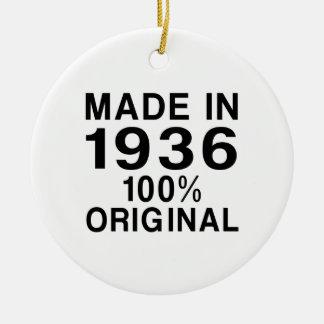Made in 1936 ceramic ornament