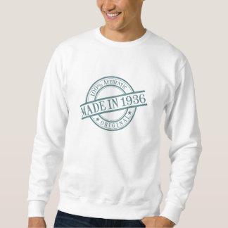 Made in 1936 Circular Rubber Stamp Style Logo Sweatshirt
