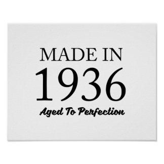 Made In 1936 Poster