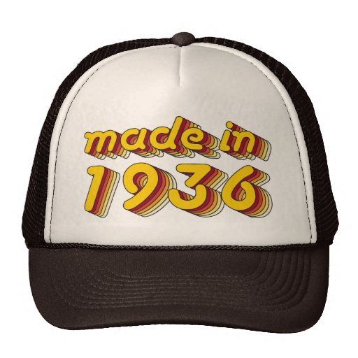 Made in 1936 (Yellow&Red) Hats
