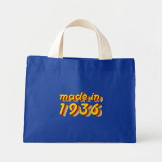 Made in 1936 (Yellow&Red) Mini Tote Bag