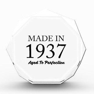 Made In 1937 Acrylic Award