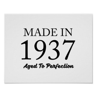 Made In 1937 Poster