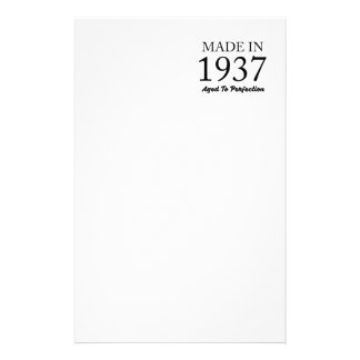Made In 1937 Stationery