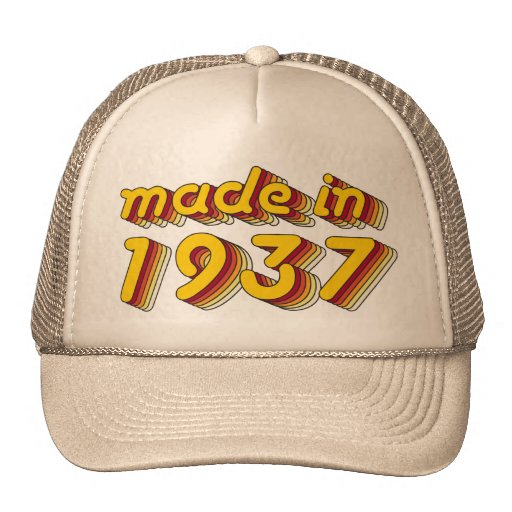 Made in 1937 (Yellow&Red) Hats