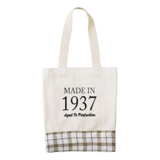 Made In 1937 Zazzle HEART Tote Bag