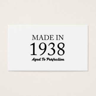 Made In 1938 Business Card
