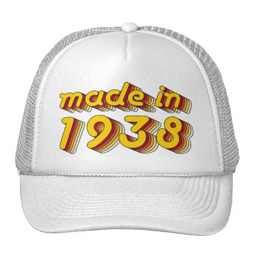 Made in 1938 (Yellow&Red) Trucker Hats