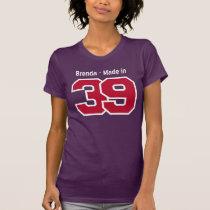 Made in 1939 Custom Name 75th Birthday W75D T-Shirt
