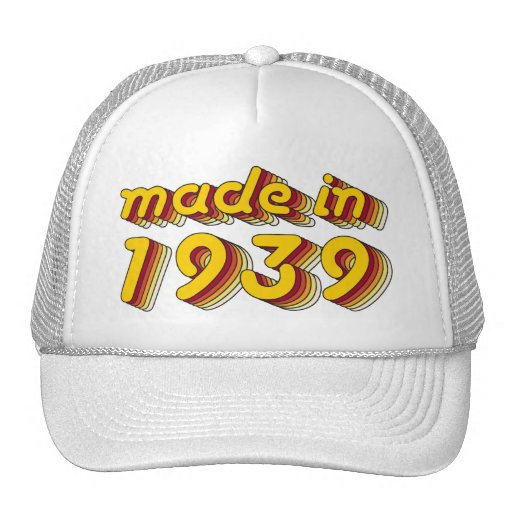 Made in 1939 (Yellow&Red) Hat