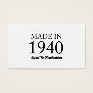 Made In 1940 Business Card