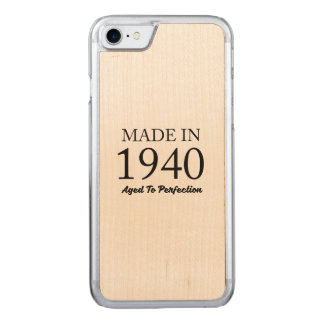 Made In 1940 Carved iPhone 7 Case