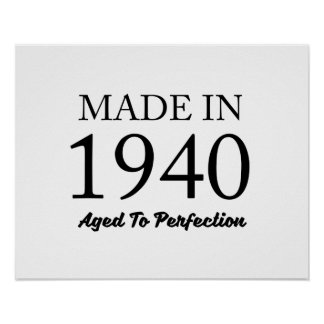 Made In 1940 Poster