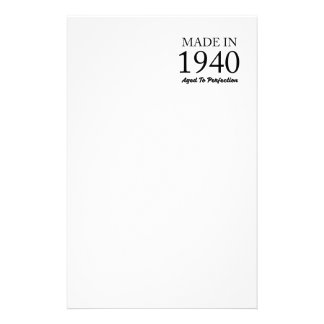 Made In 1940 Stationery