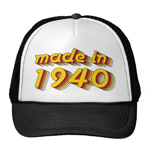 Made in 1940 (Yellow&Red) Mesh Hat
