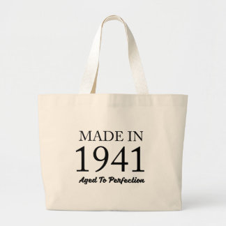 Made In 1941 Large Tote Bag