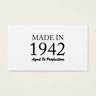 Made In 1942 Business Card
