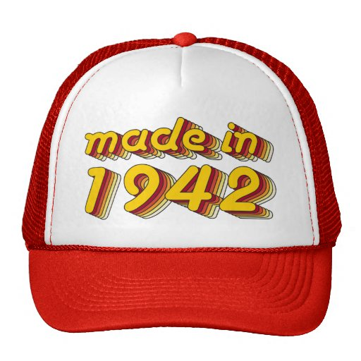 Made in 1942 (Yellow&Red) Mesh Hats