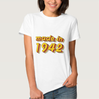 Made in 1942 (Yellow&Red) T-shirt