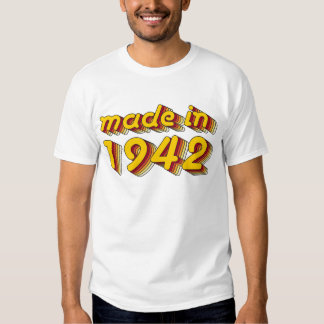 Made in 1942 (Yellow&Red) Tee Shirt