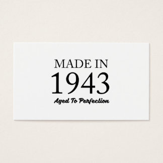 Made In 1943 Business Card