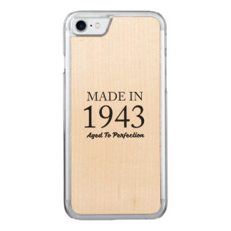 Made In 1943 Carved iPhone 8/7 Case