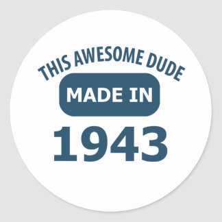 Made in 1943 classic round sticker