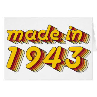 Made in 1943 (Yellow&Red) Card