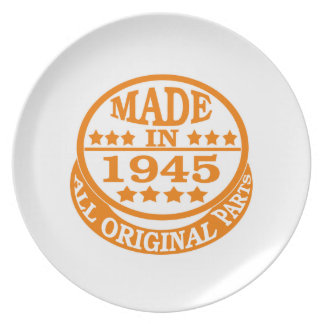 Made in 1945 all original parts dinner plate