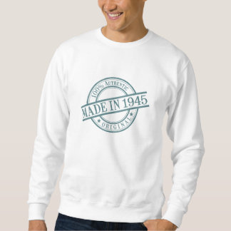 Made in 1945 Circular Rubber Stamp Style Logo Sweatshirt