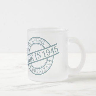 Made in 1945 10 oz frosted glass coffee mug