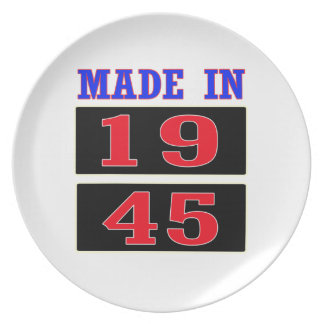 Made in 1945 plate