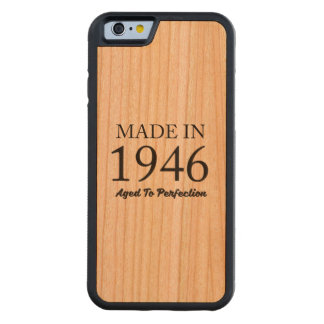Made In 1946 Carved Cherry iPhone 6 Bumper Case