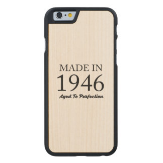 Made In 1946 Carved Maple iPhone 6 Slim Case