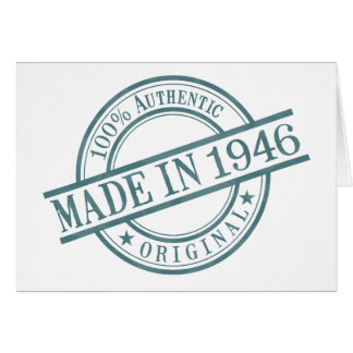 Made in 1946 Landscape Greeting Card
