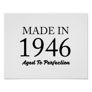 Made In 1946 Poster