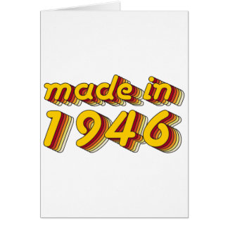 Made in 1946 (Yellow&Red) Card
