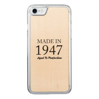 Made In 1947 Carved iPhone 8/7 Case