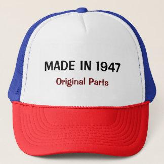 Made in 1947, Original Parts text design Trucker Hat