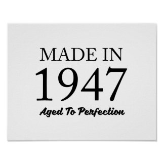 Made In 1947 Poster