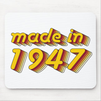 Made in 1947 (Yellow&Red) Mouse Pad