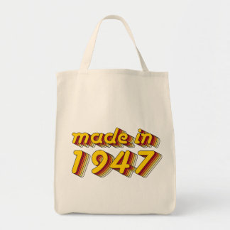 Made in 1947 (Yellow&Red) Tote Bag
