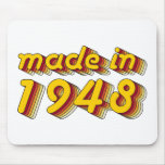Made in 1948 (Yellow&Red) Mousepads