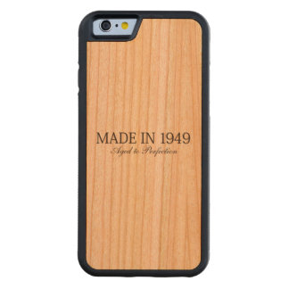 Made in 1949 carved cherry iPhone 6 bumper case