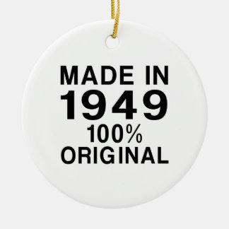 Made in 1949 ceramic ornament