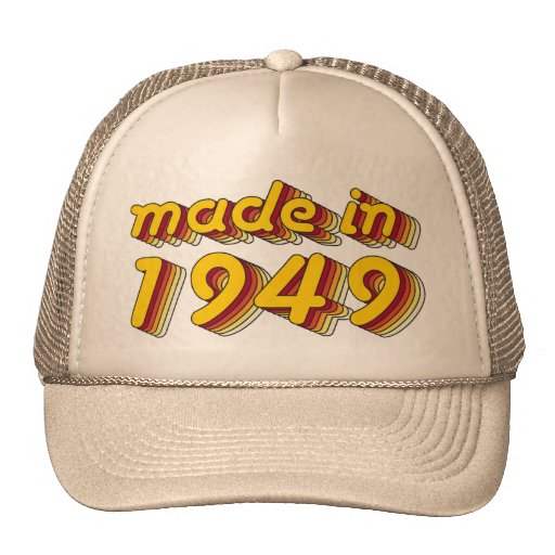 Made in 1949 (Yellow&Red) Hat
