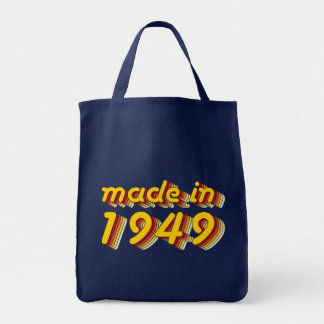 Made in 1949 (Yellow&Red) Tote Bag