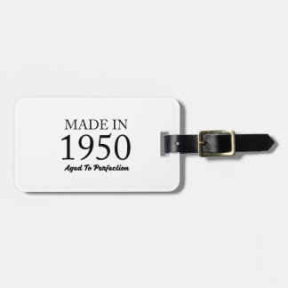 Made In 1950 Luggage Tag