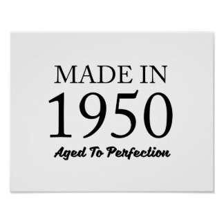 Made In 1950 Poster