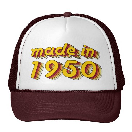 Made in 1950 (Yellow&Red) Trucker Hats